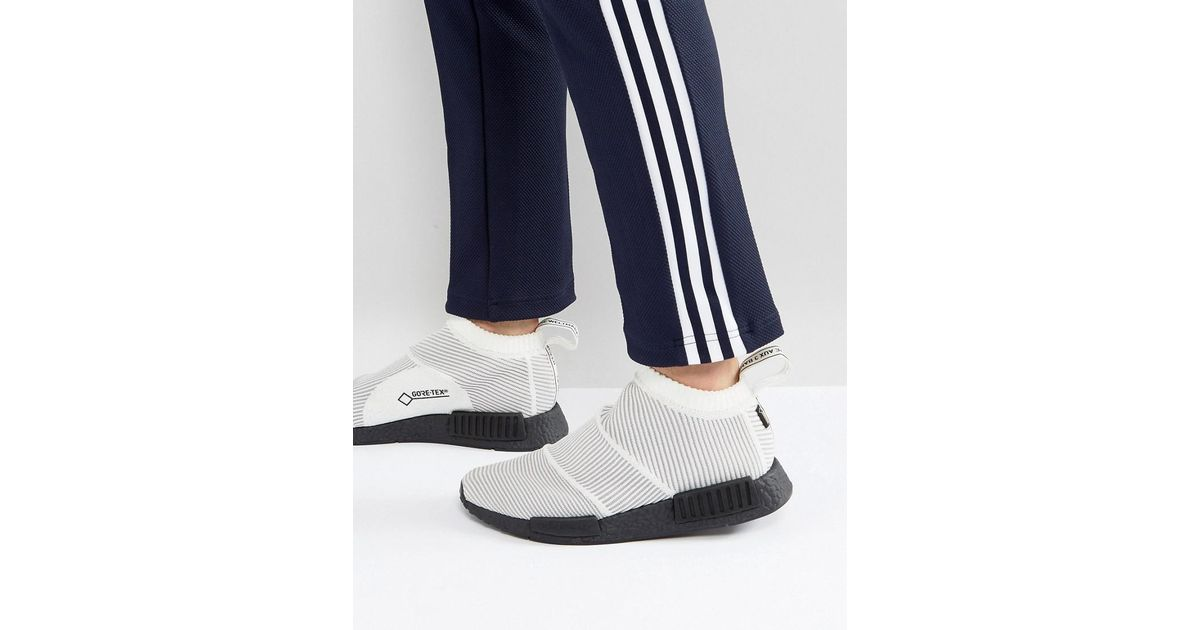 6bfc33df9 adidas Originals Nmd Cs1 Goretex Primeknit Trainers In White By9404 in White  for Men - Lyst