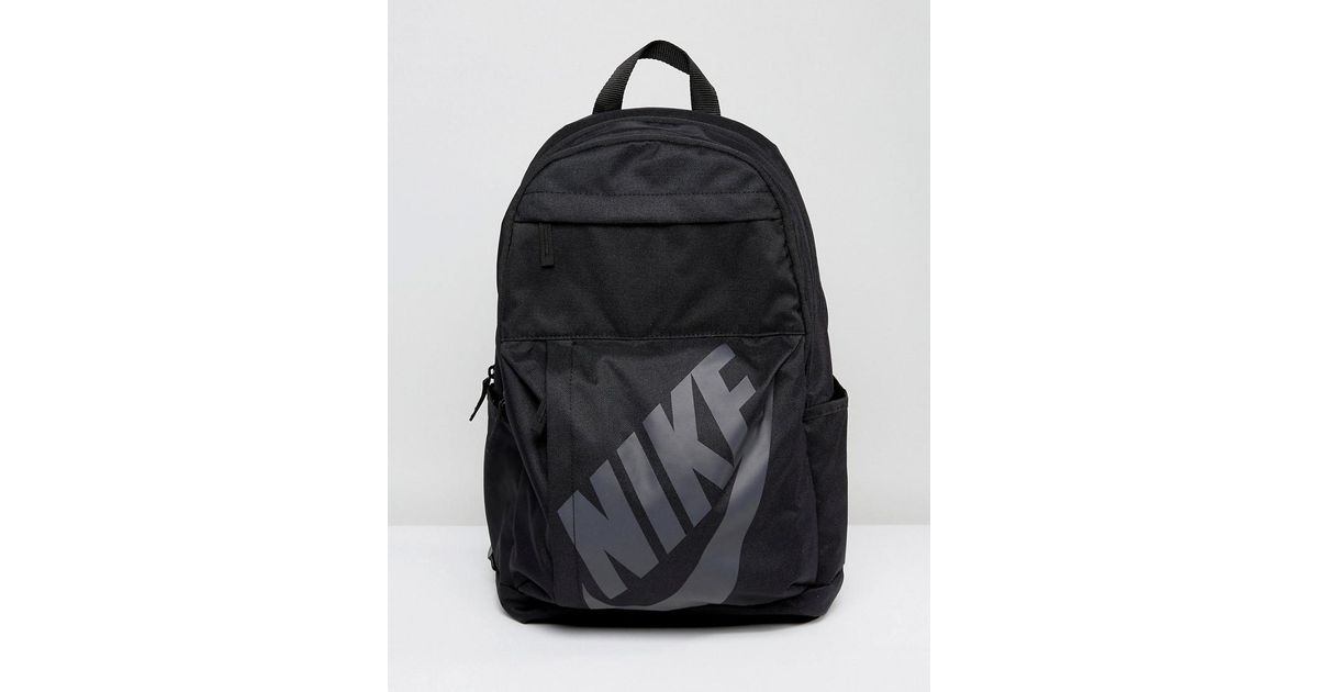 Nike Nike Logo Backpack In Black Ba5381-010 in Black for Men - Lyst ace984fc056be