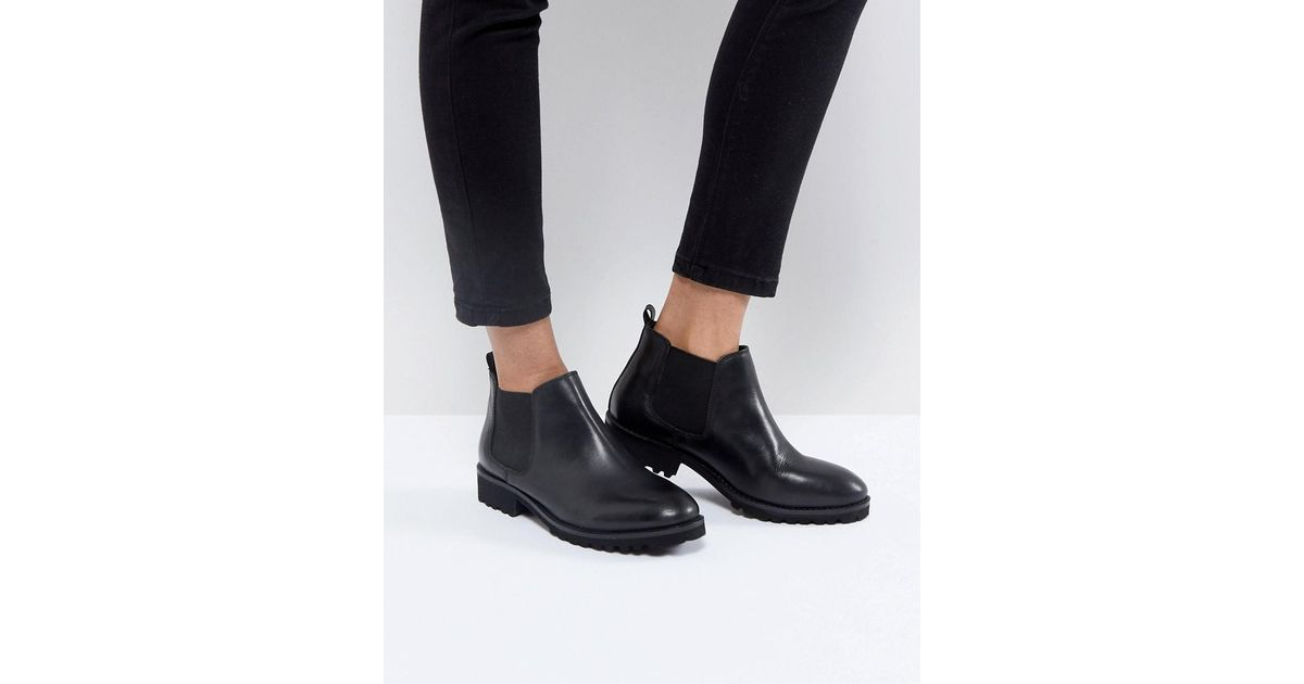 ANALISE Leather Chelsea Boots - Black Asos UXWed