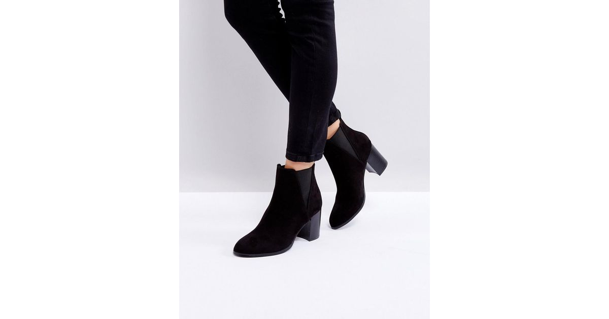 228177264b93 Oasis Heeled Ankle Boots in Gray - Lyst