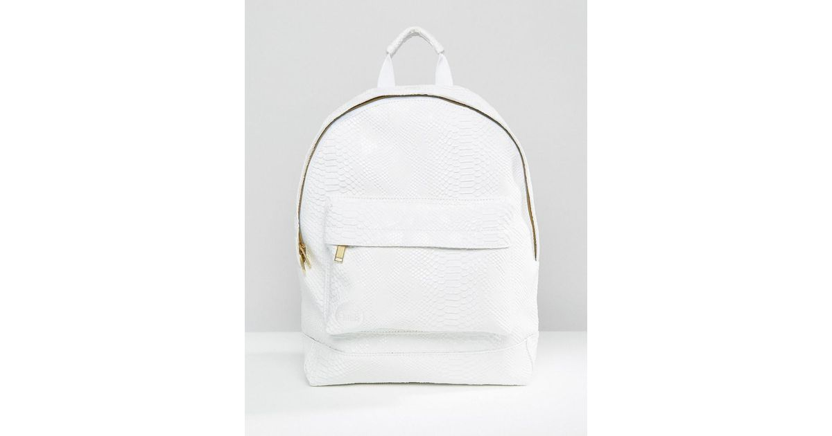 82baca5ddbf Mi-Pac Python Backpack White in White for Men - Lyst