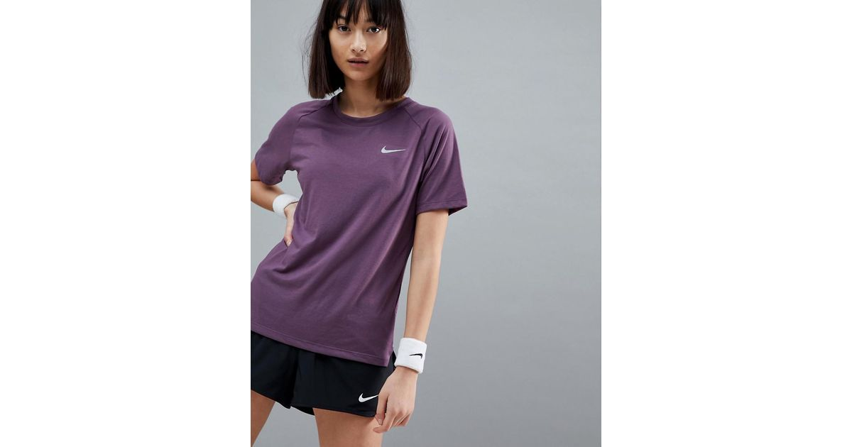 680d164c Nike Breathe Tailwind Tee In Purple in Purple - Lyst