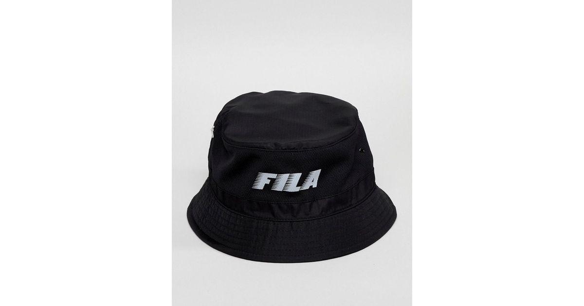 57ae00a5db Lyst - Fila Boyd Bucket Hat In Black in Black for Men
