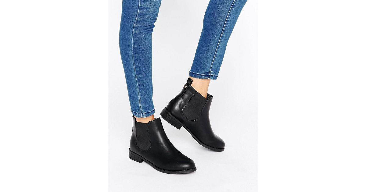 0d66352c8a37a Park Lane Flat Chelsea Boots in Black - Lyst