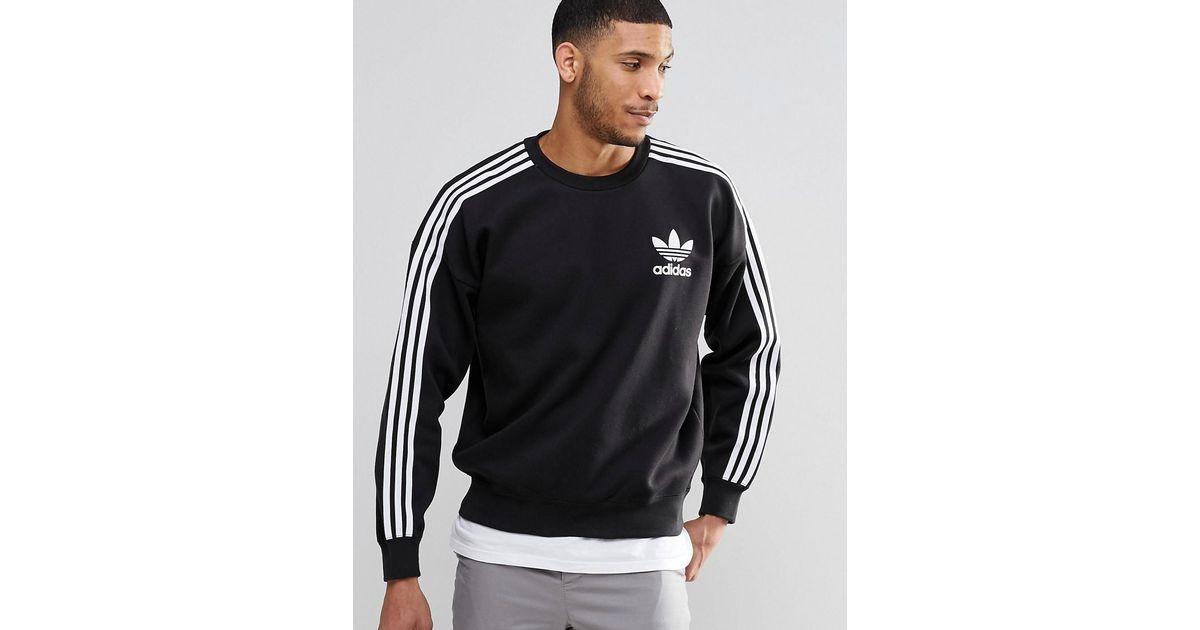 Lyst - adidas Originals Adicolour Crew Sweatshirt B10717 in Black for Men 1acdfcbe0d8c