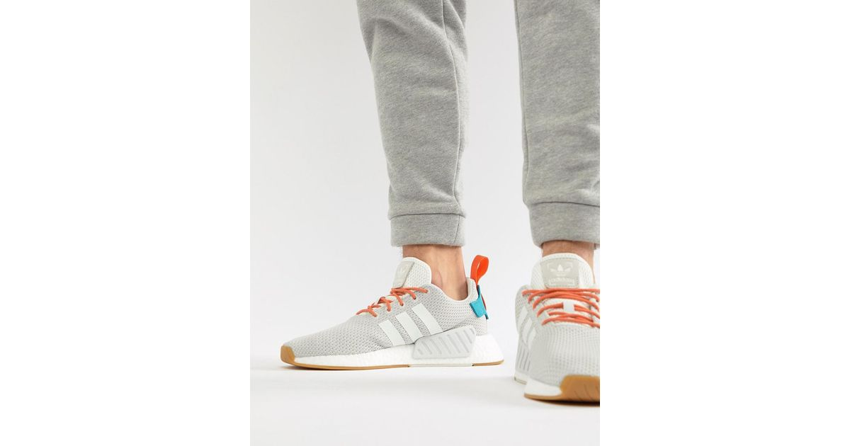 112112f3f adidas Originals Nmd R2 Boost Summer Sneakers In White Cq3080 in White for  Men - Lyst
