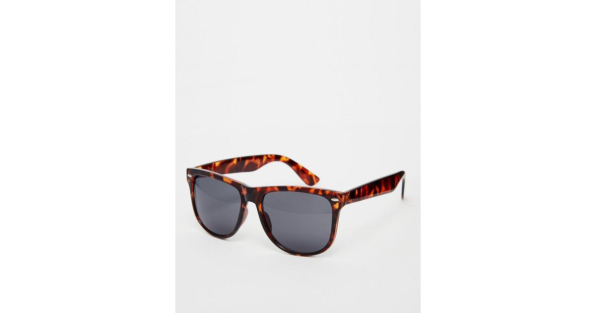 4568bf76a1 A.J. Morgan Big W Square Sunglasses In Tortoishell in Brown for Men - Lyst