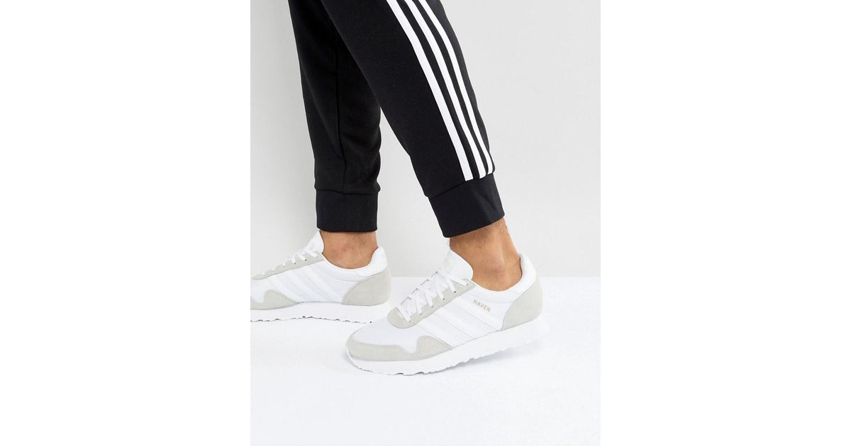 acbf20f14b8 Adidas Originals Haven Sneakers In White By9718 in White for Men - Lyst
