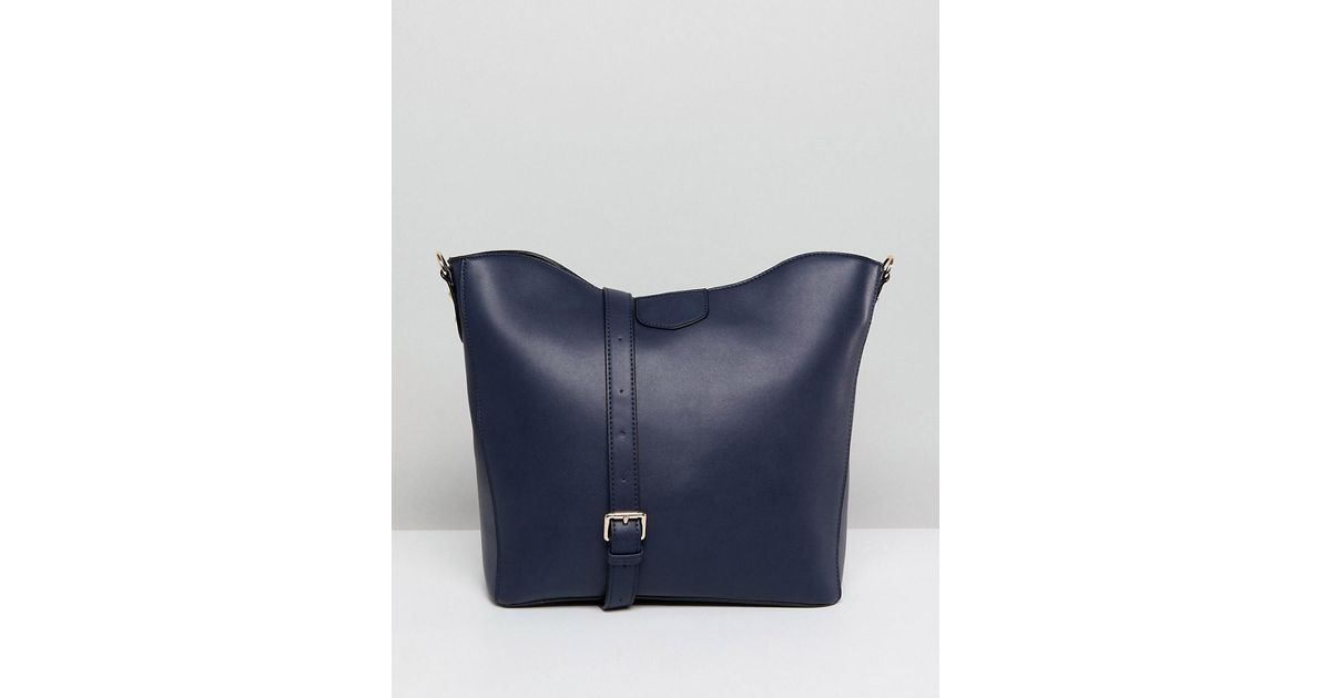 Lyst - Park Lane Slouchy Shoulder Bag in Blue c52858f673f0e