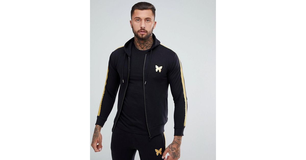 Cheap Sale Great Deals Zip Thru Hoodie In Black With Gold Stripe - Black Good For Nothing Discount Finishline Sale Visit New Best Seller Cheap Price GMtc4