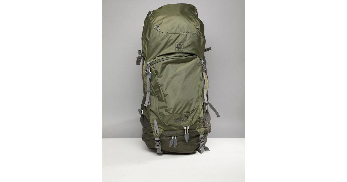 24dda59b182 Jack Wolfskin Highland Trail Xt 50 Backpack In Khaki in Green for Men - Lyst