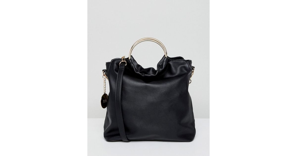 Faith CIRCLE HANDLE SLOUCH - Handtasche - black NurQIXs