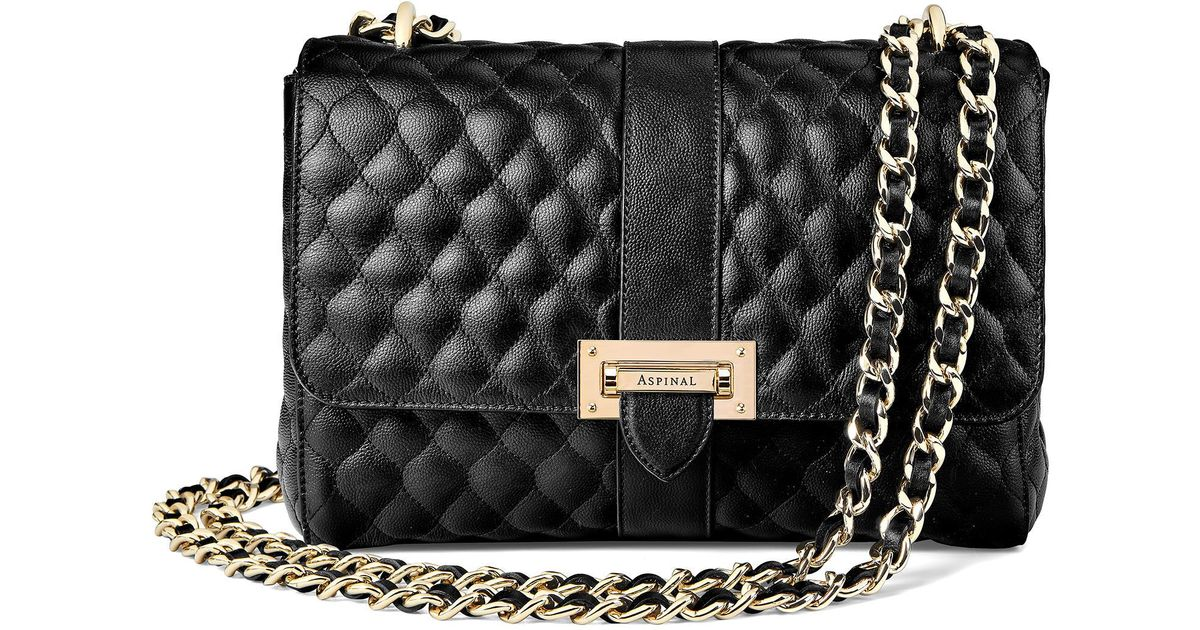 Aspinal Large Lottie Bag in Black - Lyst b2c210091f