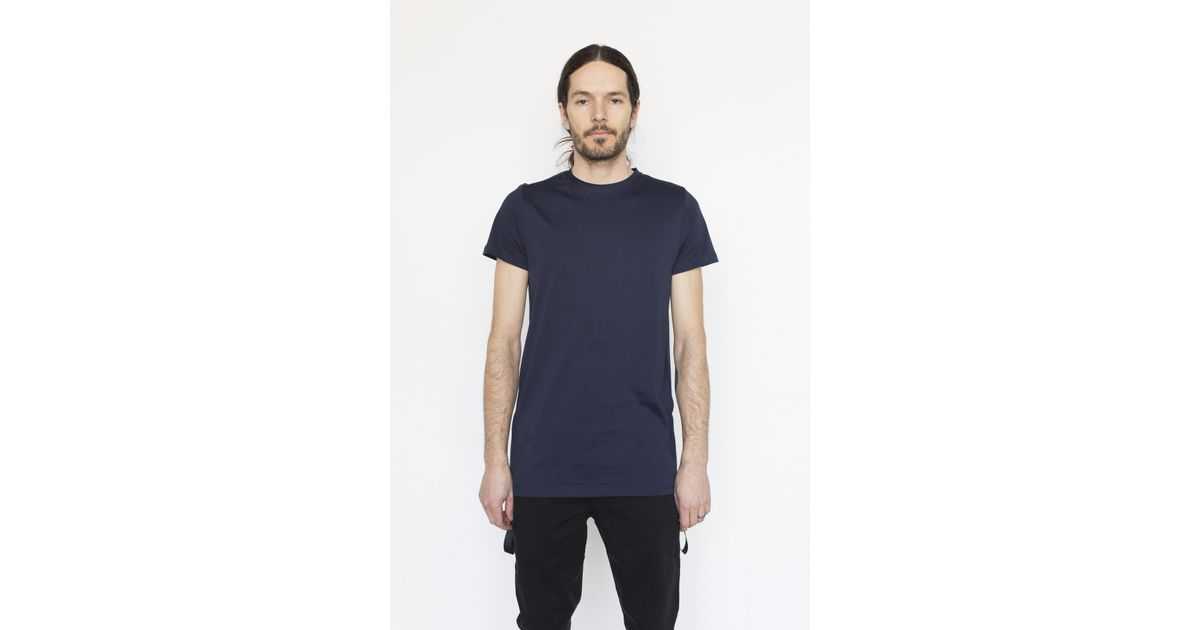 matthew miller cotton marshall t shirt in blue for lyst