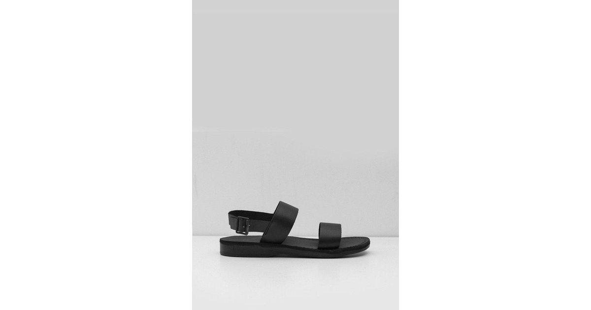 04b4bb6c0e9a Lyst - Jerusalem Sandals Leather Golan Sandal in Black for Men
