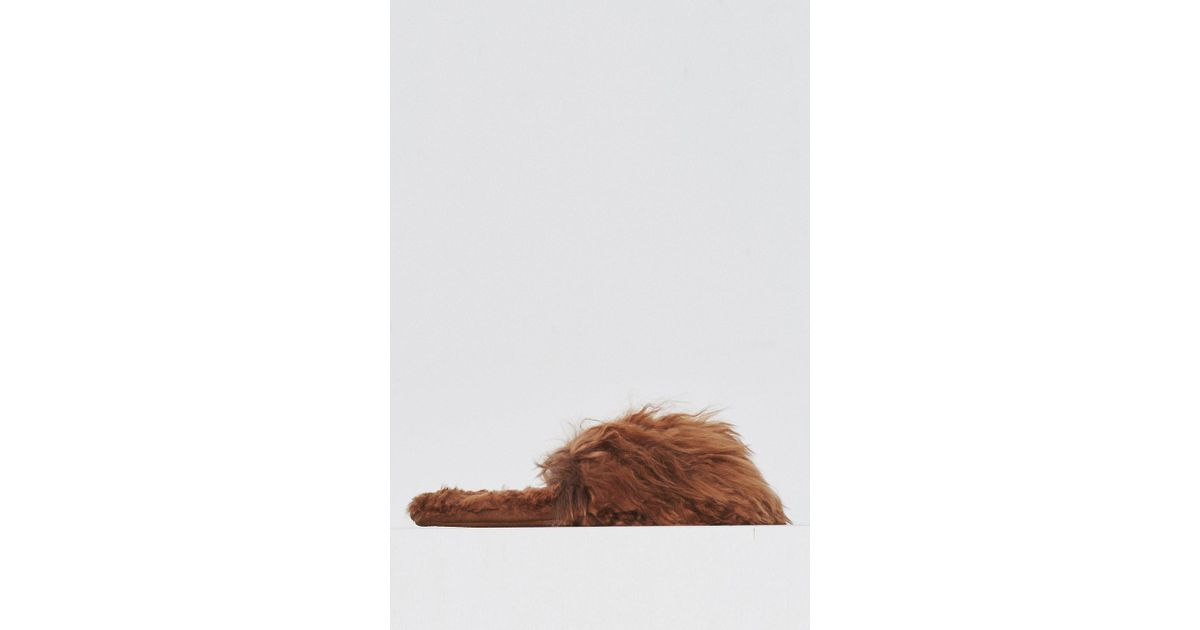 a0d695408a2b Lyst - Ariana Bohling Alpaca Suri Slipper - Natural in Brown