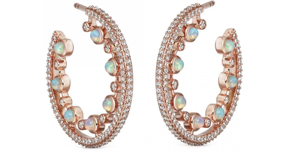6586751fde070 Astley Clarke - Multicolor Large Icon Nova Opal Hoop Earrings - Lyst