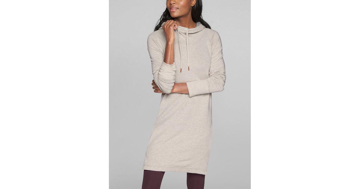 9e22bf4b519d2 Lyst - Athleta Cowl Lounge Sweatshirt Dress in Brown