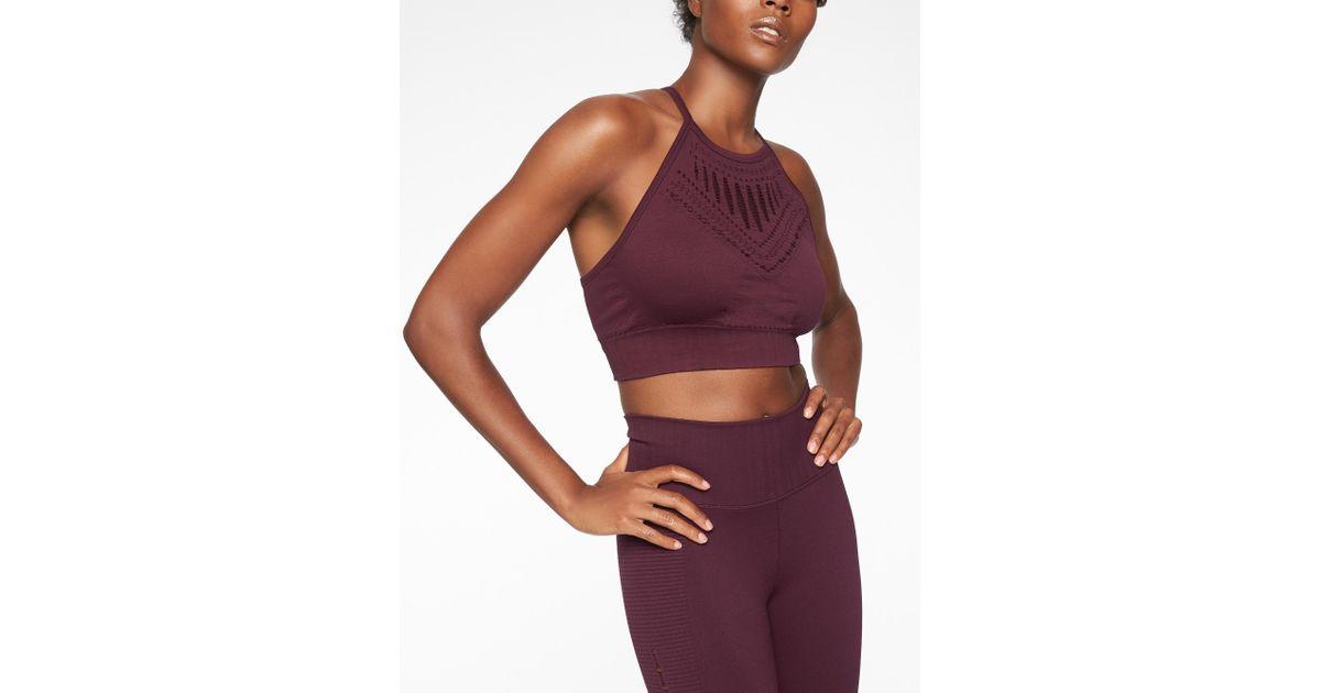 c6e7e76f01 Lyst - Athleta Halasana Macrame Bra in Purple