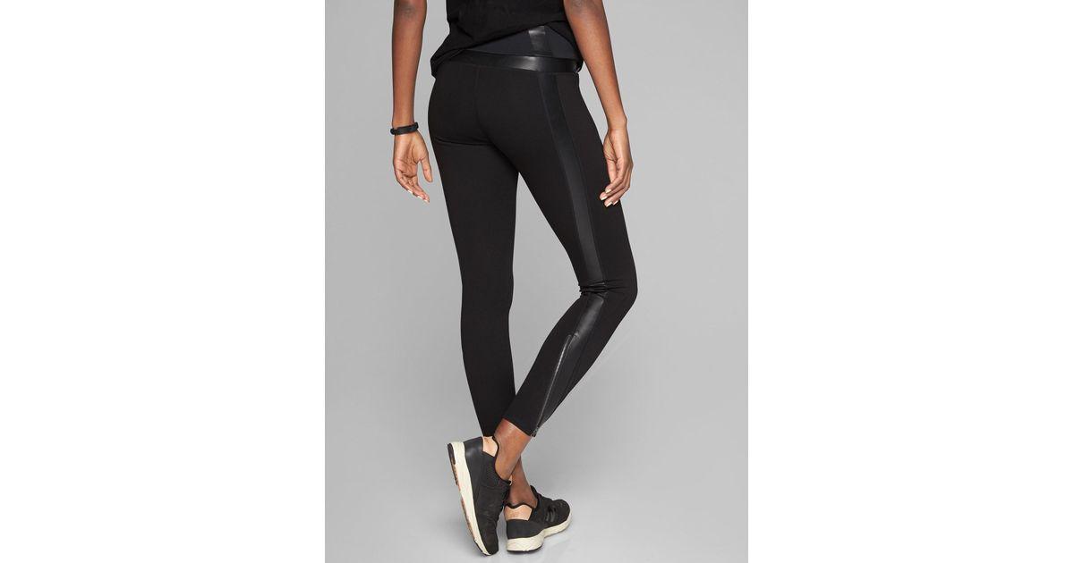 1687f79ead70ab Athleta Luxe Ponte Legging in Black - Lyst