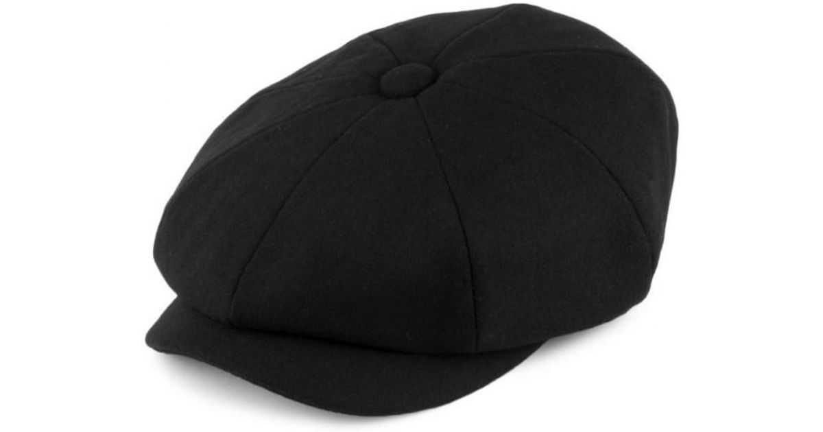f40217f2e99 Barbour Melton Baker Boy Flat Cap in Black for Men - Lyst