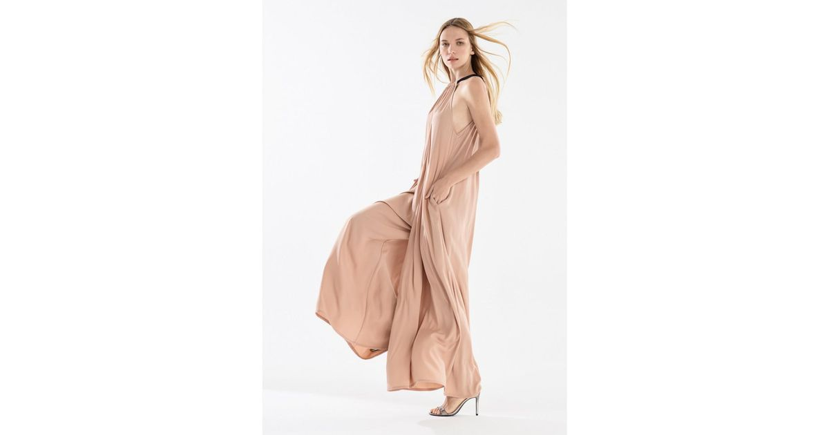 b502d80390 Paisie Two Tone Halterneck Jumpsuit With Pastel Belt (with Faux Leather Belt)  In Blush And Navy in Pink - Lyst