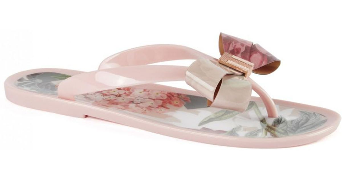 554ace3d9 Ted Baker Suszie Palace Gardens Flip Flops in Pink - Lyst