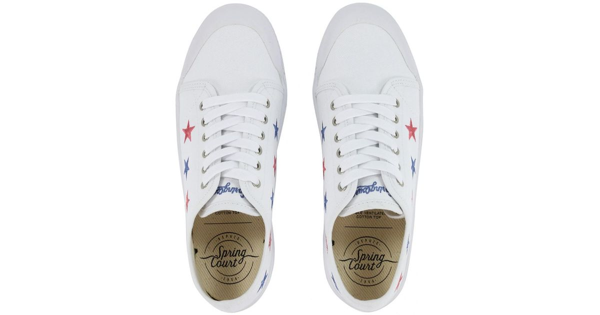 877623dcb0 Lyst - Spring Court G2 Slim Sneaker in White