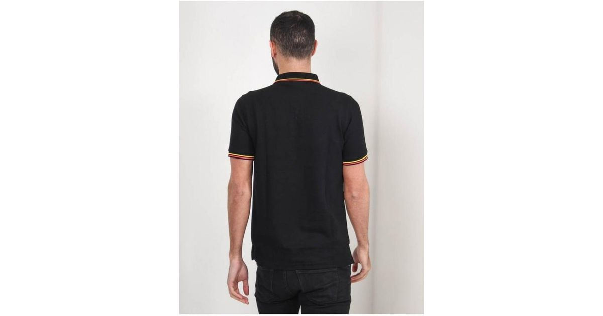 43b742f8fb9 Lyst - Psycho Bunny Neon Tipped Polo Shirt in Black for Men
