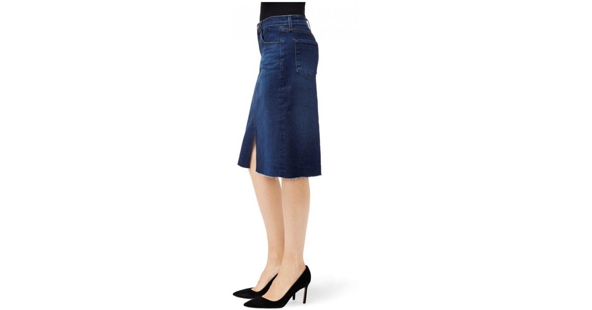a3c80454ad Lyst - J Brand Trystan Denim Skirt in Blue