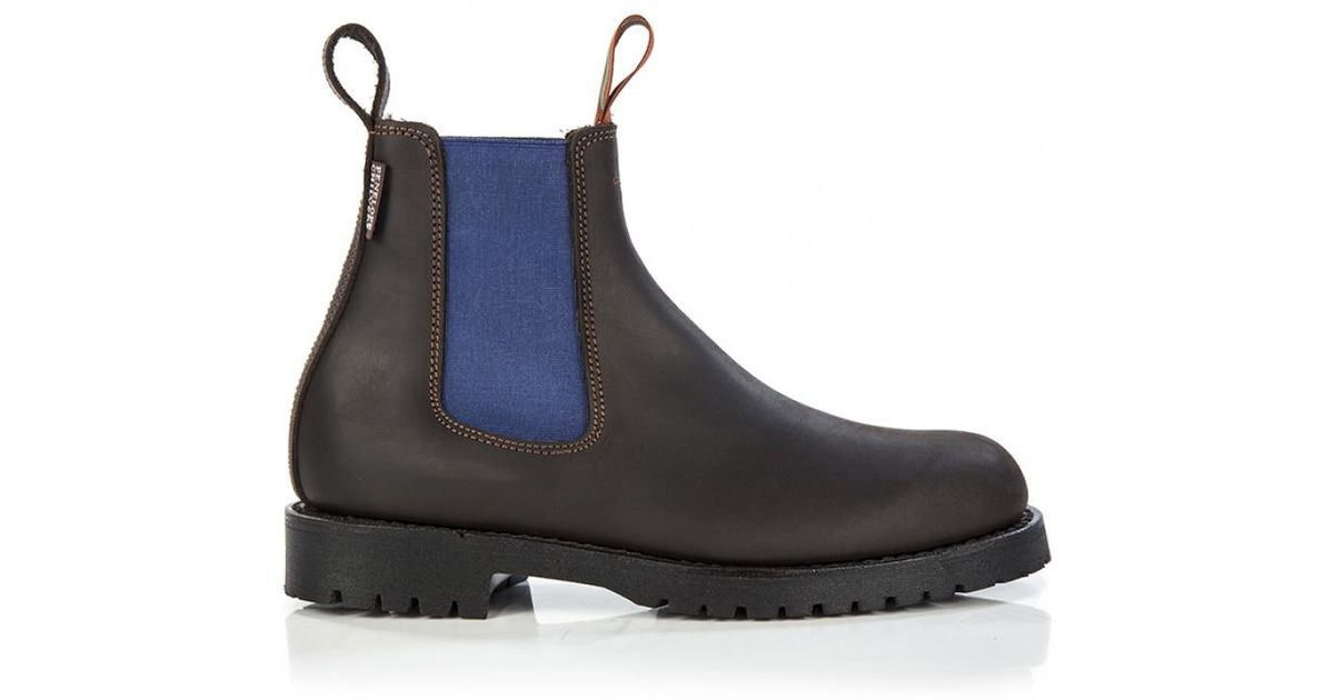 7eef0c7a0c0 Penelope Chilvers Women s Nelson Contrast Leather Chelsea Boots in Brown -  Lyst