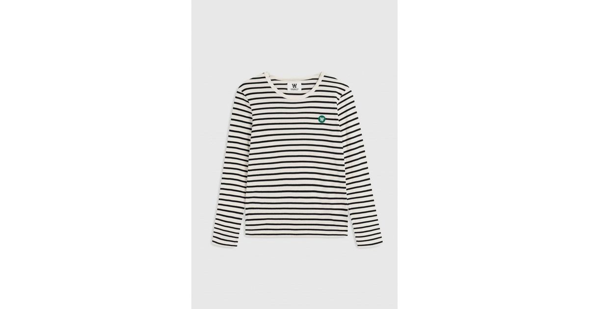 aa43500262c WOOD WOOD Moa Off White/navy Stripes Top in White - Lyst