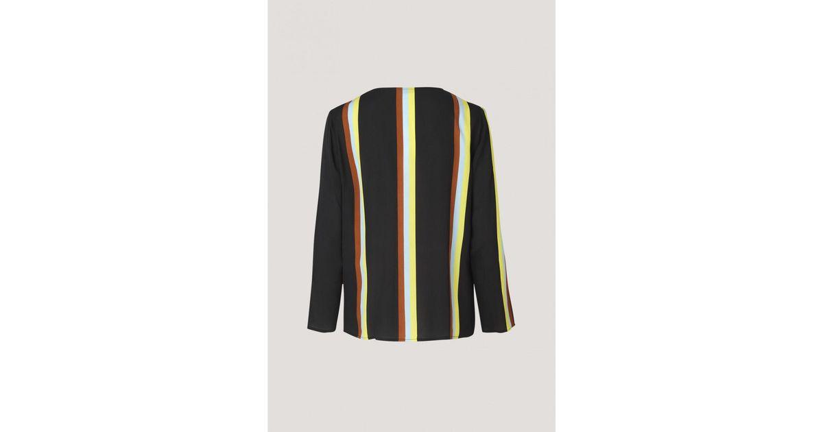 2ca32990b17 Lyst - Samsøe   Samsøe Sofia Striped Shirt in Black