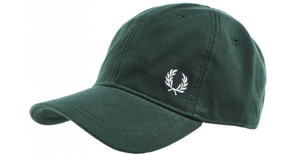64dfd484b Fred Perry Pique Classic Cap Hw3650 406 in Green for Men - Lyst