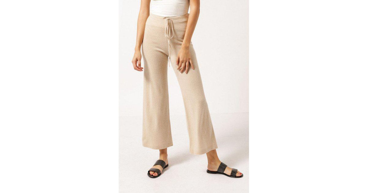 lyst objects without meaning cashmere sweater pant in natural