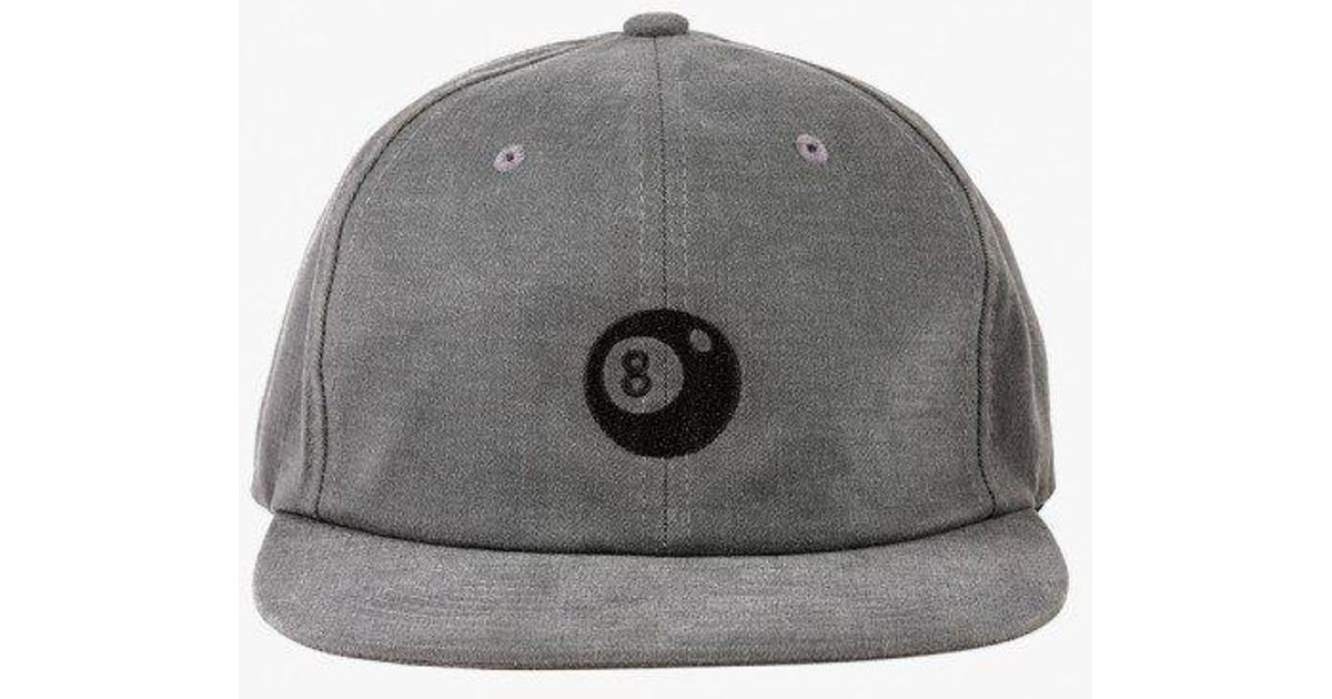 5f6122312bd Lyst - Stussy 8-ball Strapback Cap in Black for Men