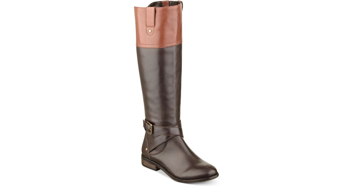 ebd101aad11 Lyst - Marc Fisher Amber Tall Riding Boots in Brown