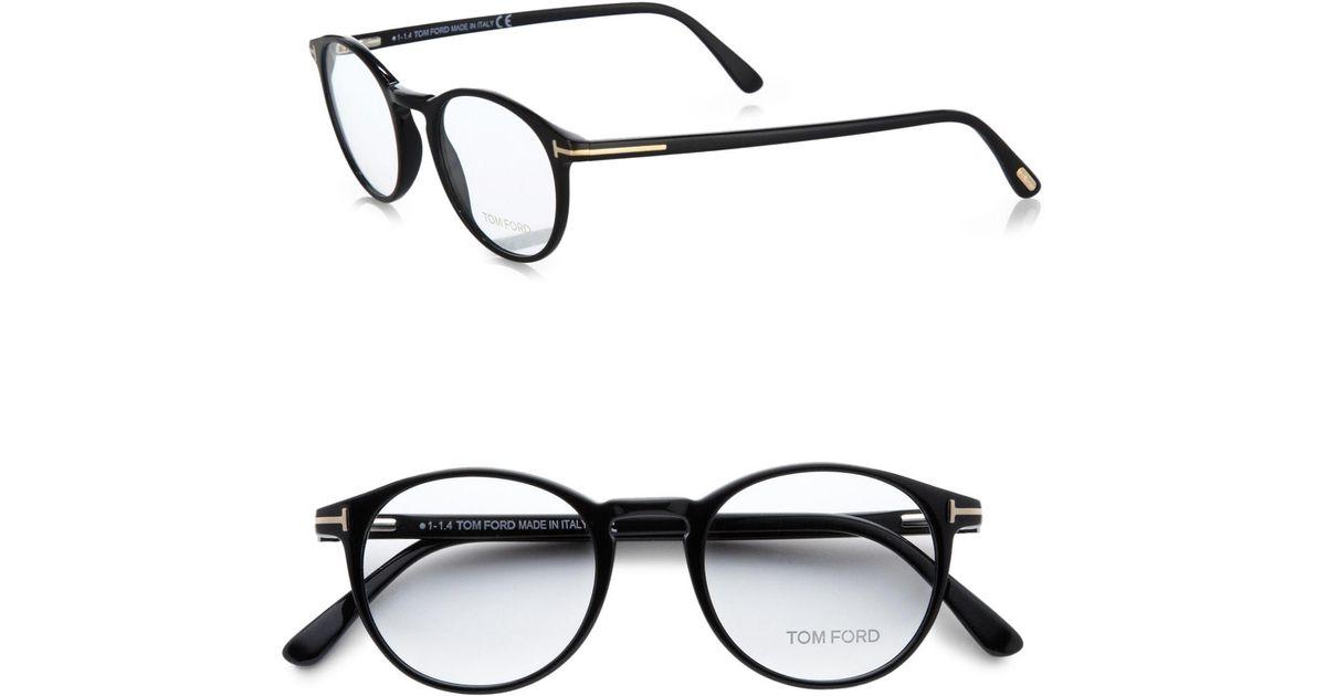 a2c8d1956b2 Lyst - Tom Ford 5294 Vintage Round Optical Frames in Black for Men