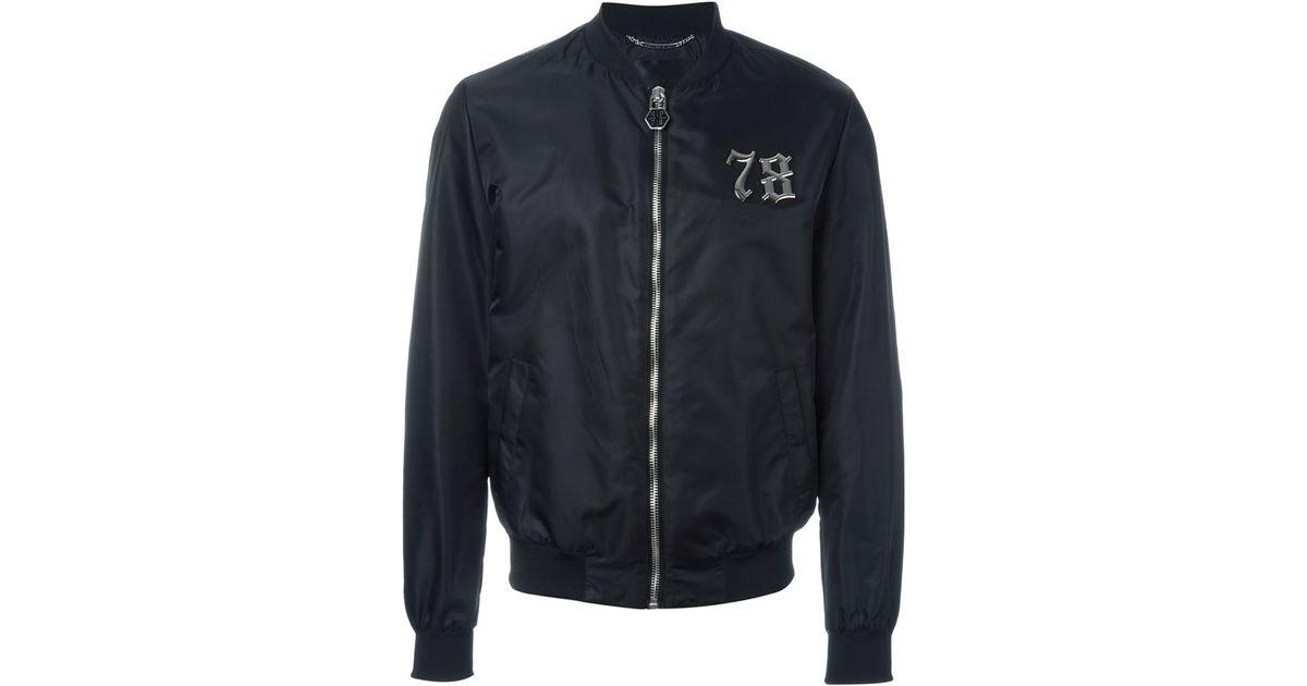 Philipp For Men Plein Jacket Seventy In Black Bomber Eight Lyst T13culFKJ