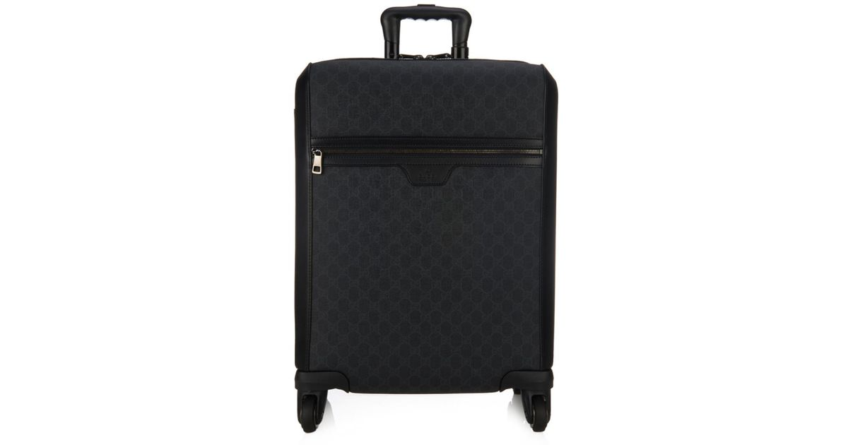 Gucci Monogram Gg Trolley Suitcase in Black for Men | Lyst