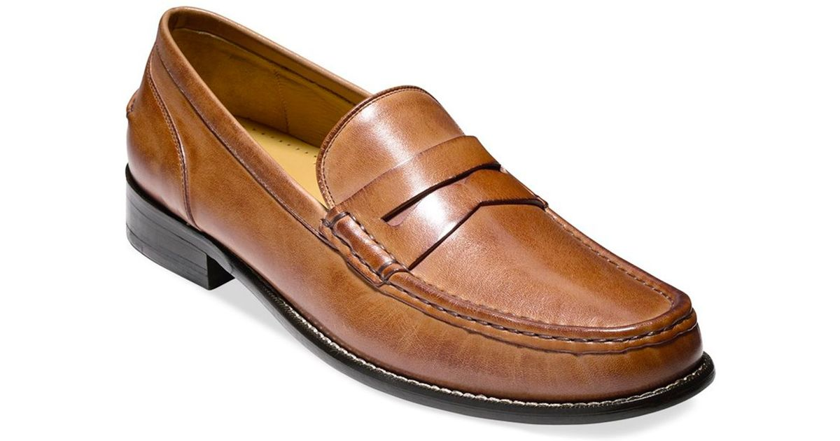 Lyst - Cole haan Britton Penny Loafers in Brown for Men