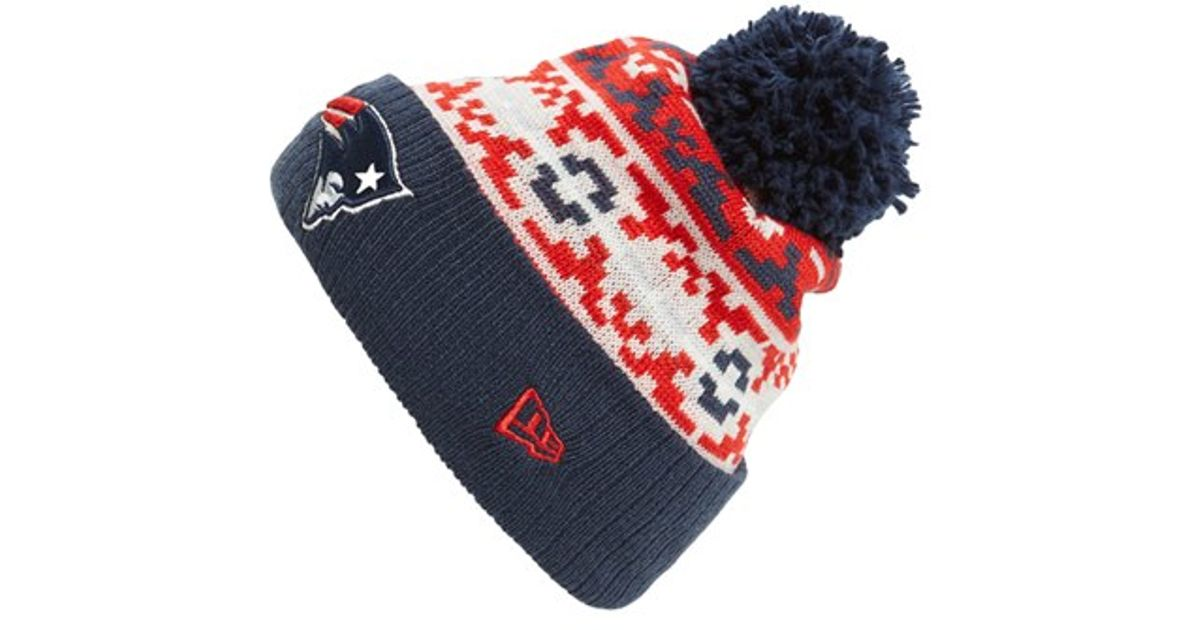 Ktz  retro Chill - New England Patriots  Knit Hat in Blue for Men  23cf93e8d48