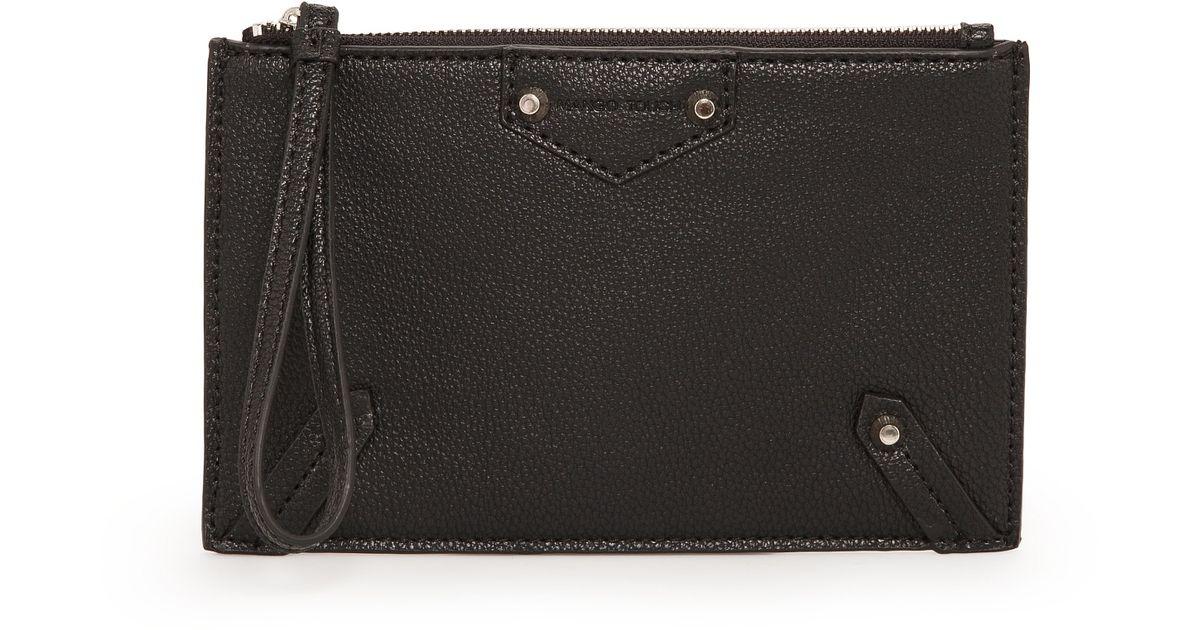 f8c2e2e9190 Lyst - Mango Wristlet Pebbled Cosmetic Bag in Black