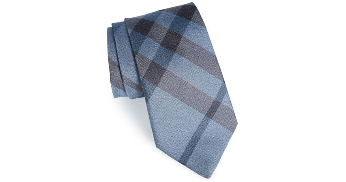 347f4e00ed68 where to buy burberry tie new classic check beige fbc7e 83392; australia lyst  burberry clinton check silk tie in gray for men a4a9f 64a6d