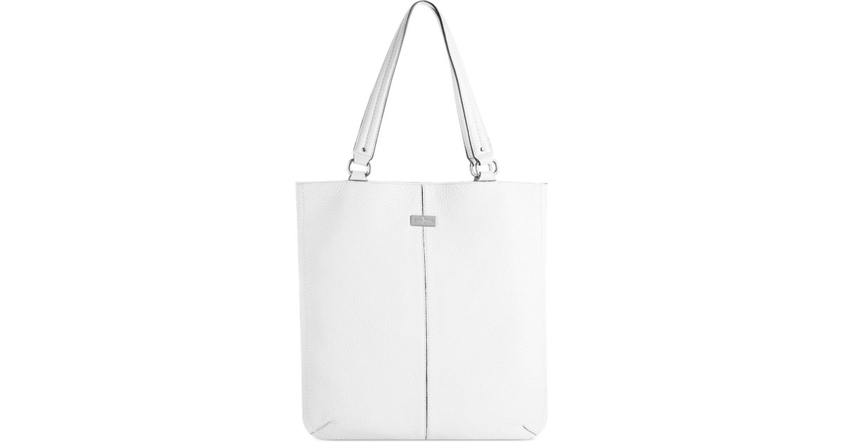 2df1aa2928 Lyst - Cole Haan Village Flat Tote in White