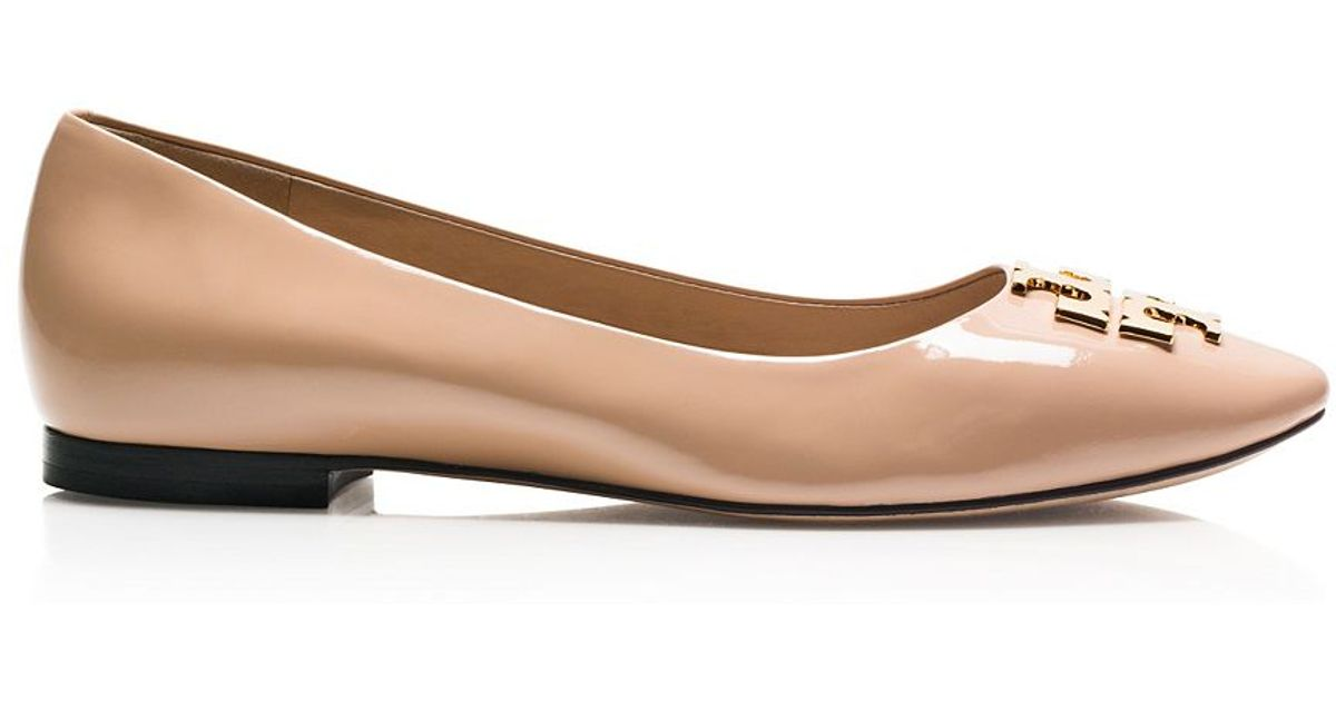 d171d7474c72 Lyst - Tory Burch Raleigh Ballet Flat in Natural