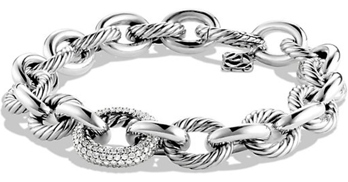 david yurman oval link bracelet david yurman oval large link bracelet with diamonds in 3516