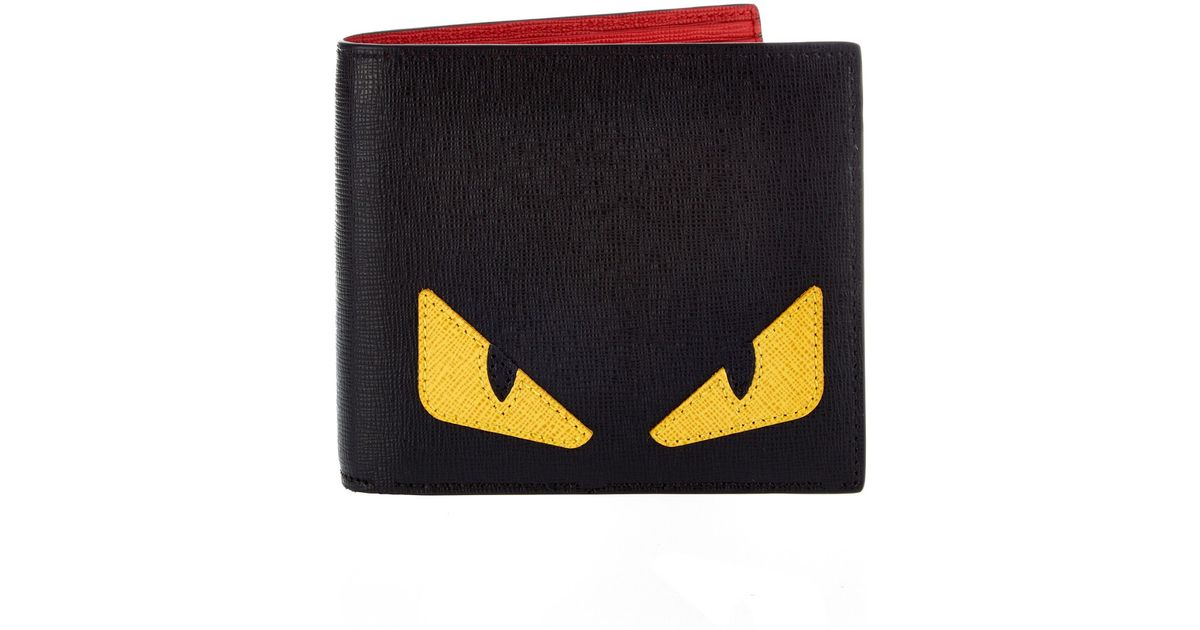 251f5cbcc1c7 Lyst - Fendi Bag Bugs Leather Bi-fold Wallet in Black for Men