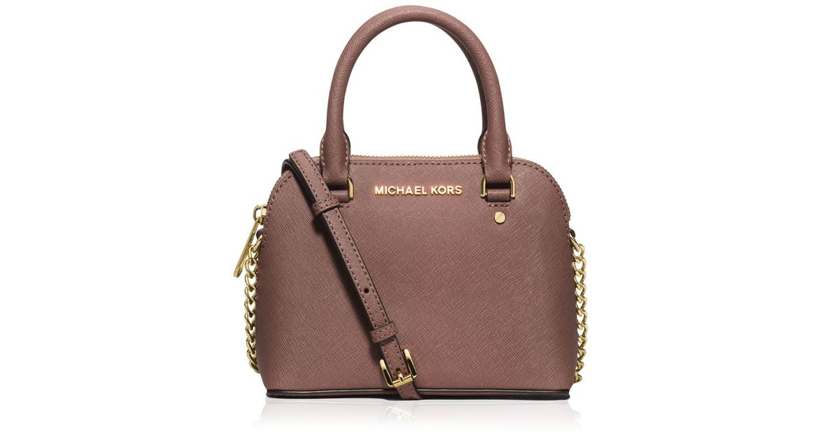 michael michael kors cindy extra small crossbody in pink lyst