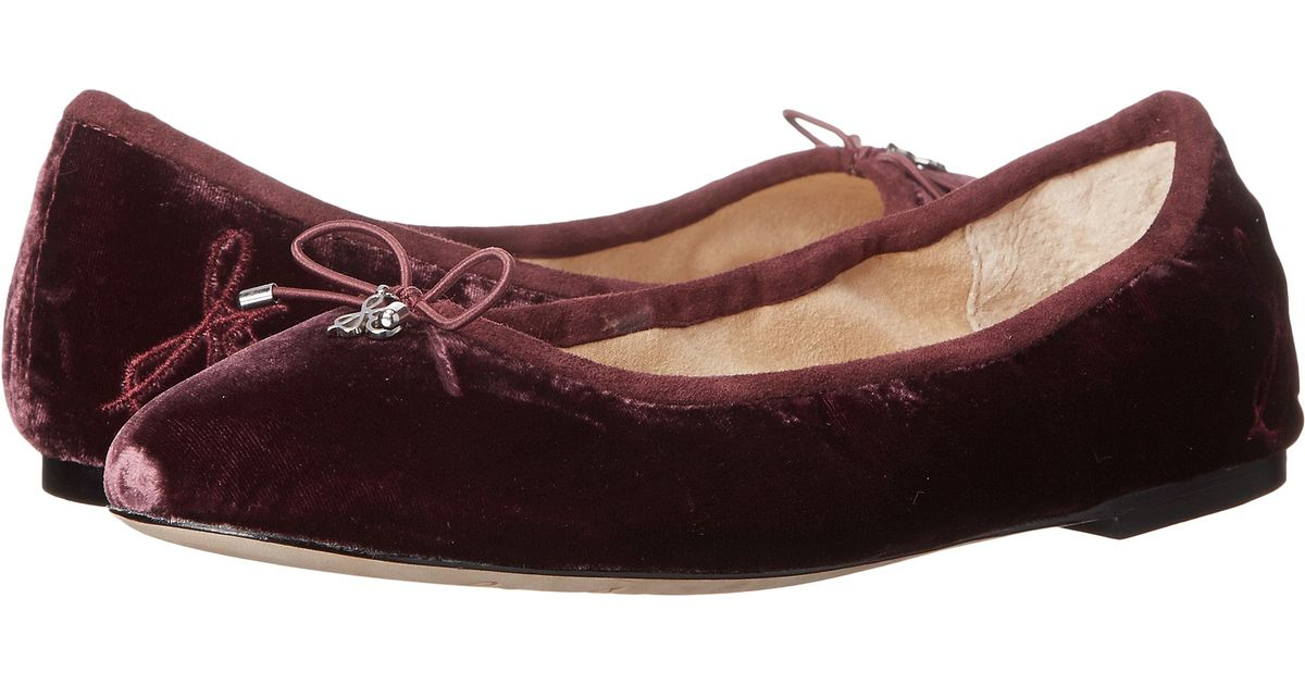 Womens Shoes Sam Edelman Felicia Sangria Silk Velvet